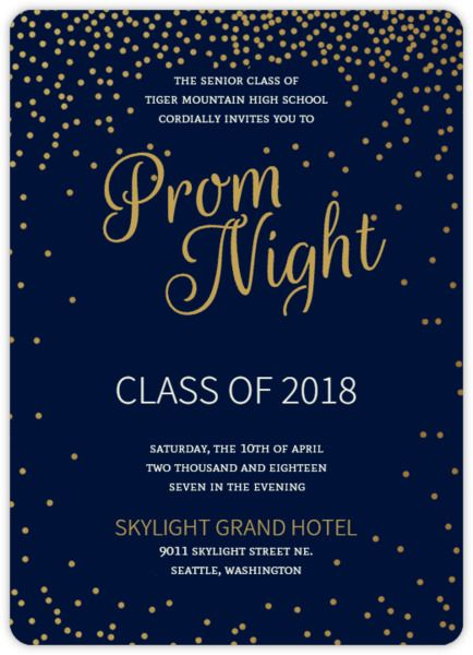 Prom Invitation Hollywood Template Themed Invitations Templates