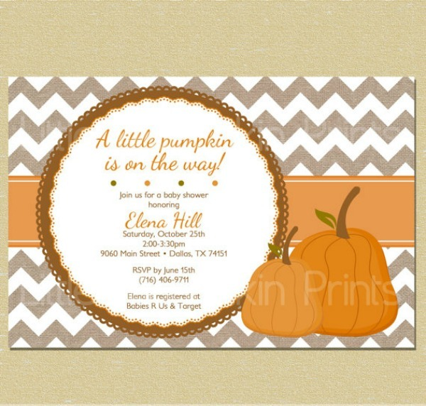 Baby Shower Invitation Template Pumpkin Baby Shower Invitations