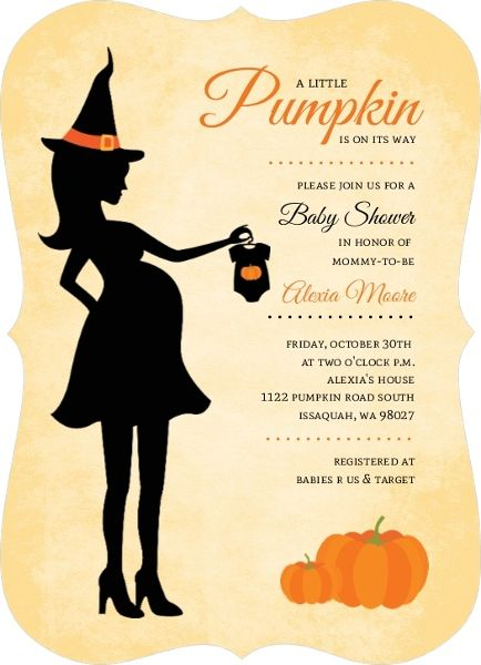 Baby Shower Invitation Template Pumpkin Baby Shower Invitations