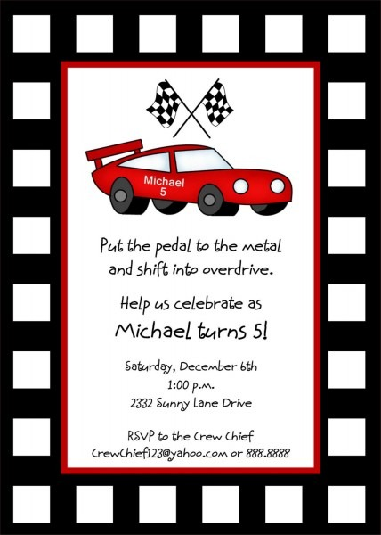 Car Invitations