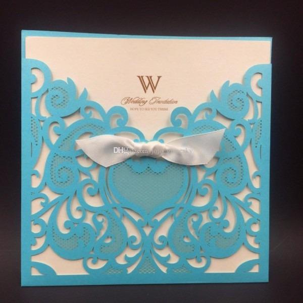 2018 Royal Blue Wedding Party Invitation Card Romantic Cards