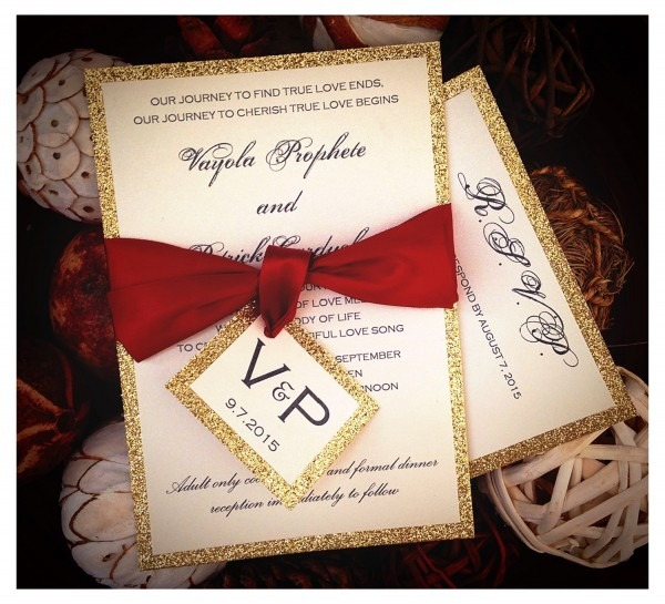 Indian Pocket Wedding Invitation Simple Red And Gold Invitation