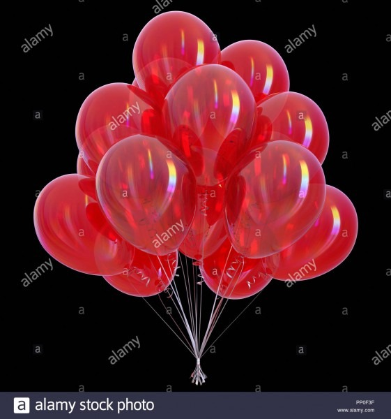 Red Balloons Party Birthday Decoration Glossy  Helium Balloon