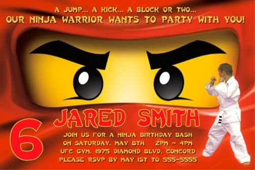 Perfect Ninjago Party Invitations