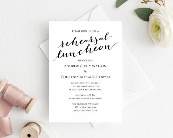 Rehearsal Luncheon Invitation Template · Wedding Templates And