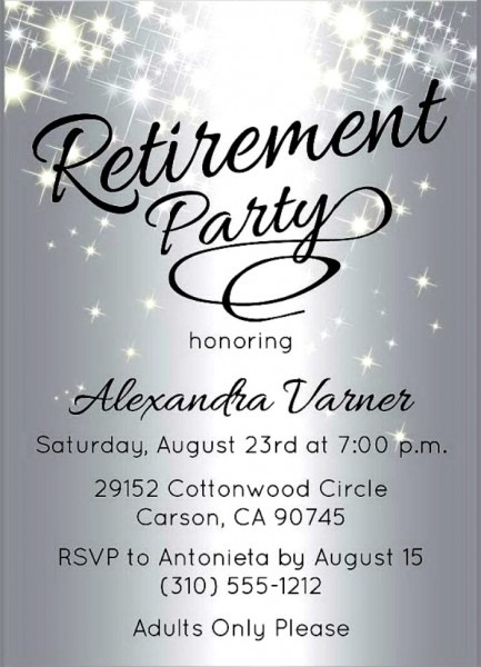 Free Retirement Party Invitation Templates For Word Best Template