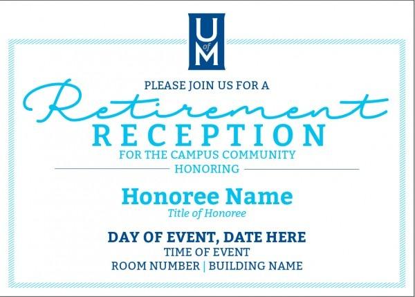 Retirement Reception Invites And Programs