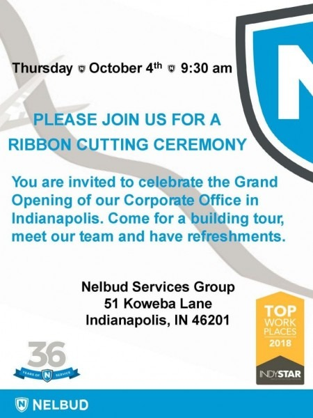 Nelbud Services Group Ribbon Cutting To Celebrate Our Grand