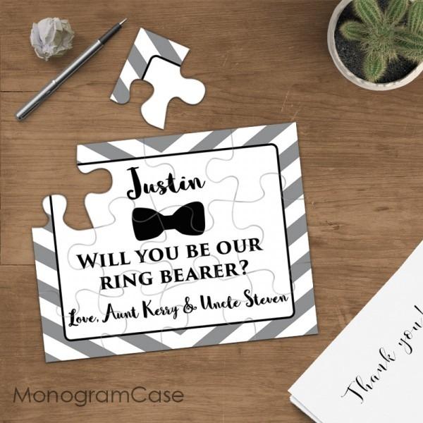 Ring Bearer Gift Puzzle Invitation Wedding Proposal