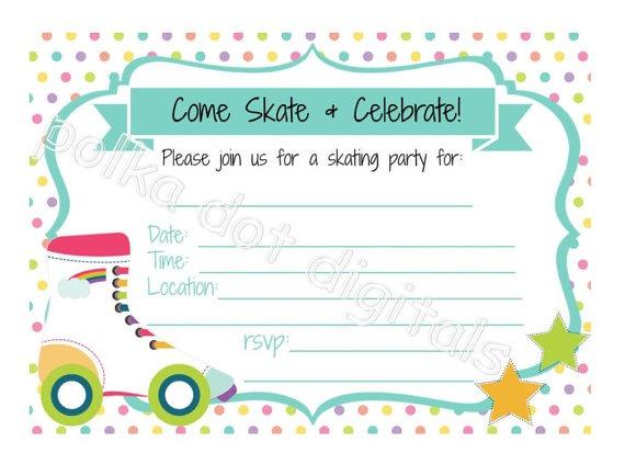 Rollerskate Vintage Free Printable Roller Skating Birthday Party