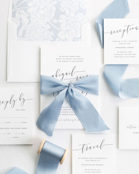 How To Tie Silk Ribbon – Wedding Invitations