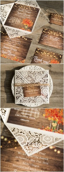 Rustic Fall Wedding Invitations Rustic Fall Wedding Invitations