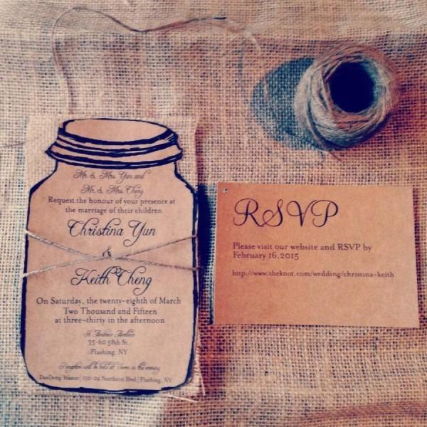 Rustic Kraft Wedding Invitation 110 Invitations With 110 Info