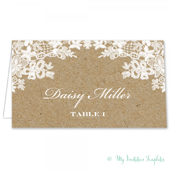 Rustic Place Card Template
