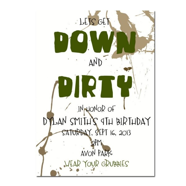 Dirty Party Invitation