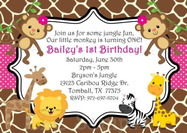 Safari Birthday Invitations Safari Birthday Invitations Of Nice