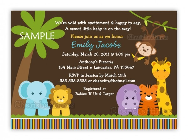 Safari Themed Baby Shower Invitation Templates Good With Safari