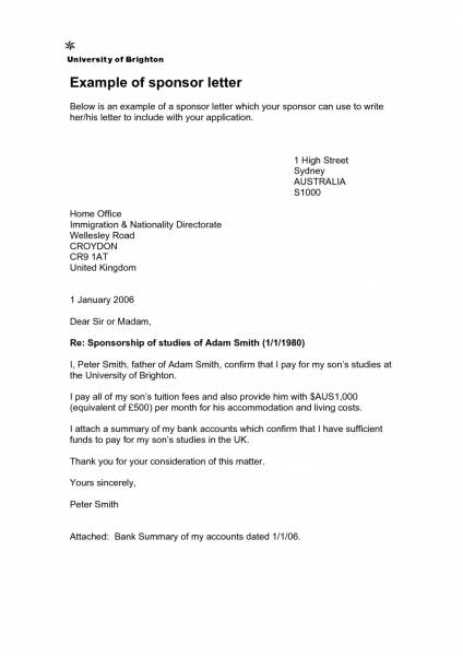 Sample Employer Letter For Uk Tourist Visa Cover Templates