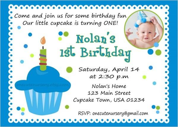 Sample Invitation For 1st Birthday Party — Birthday Invitation
