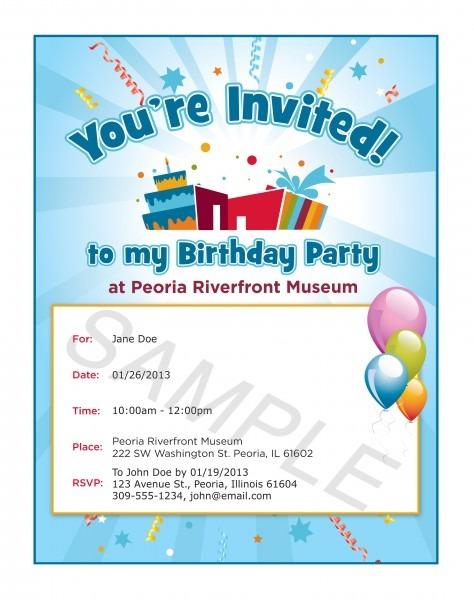 Sample Birthday Party Invitations Oklmindsproutco Examples Of
