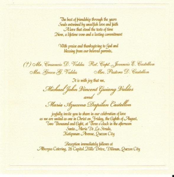 Wedding Ideas  Wedding Invitation Wording Samples