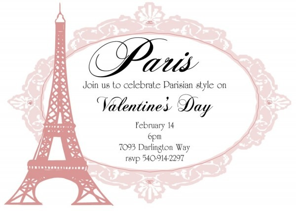Valentine's Day Party Invitations 2018