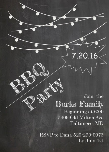 Barbecue Party Invitations