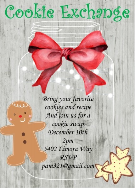 Christmas Cookie Party Invitations New Selections For 2018