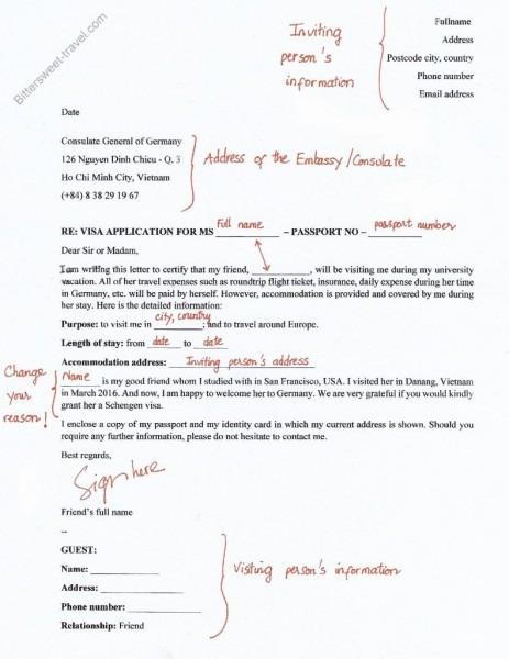 Visa Invitation Letter Sample Eu