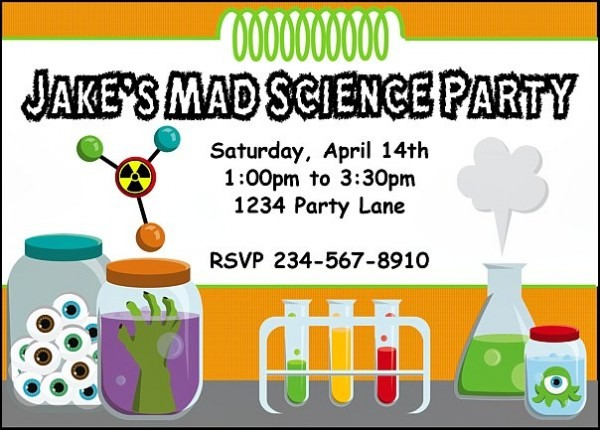 Science Party Invitation Marvelous Science Party Invitations
