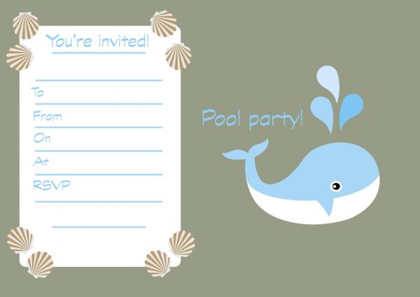 Free Printable Children's Birthday Party Invitations