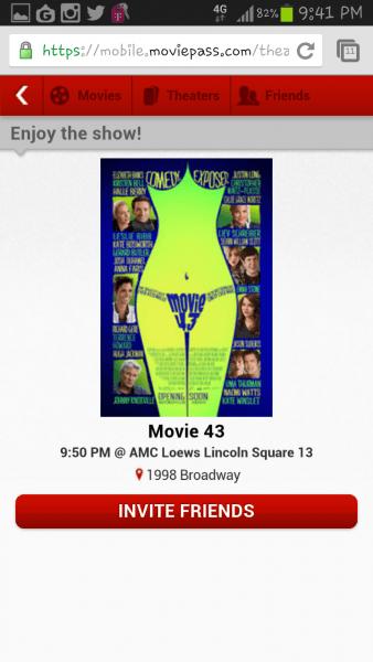 Movie Pass – Unlimited Movie Tickets – Invite Friends – Netflix