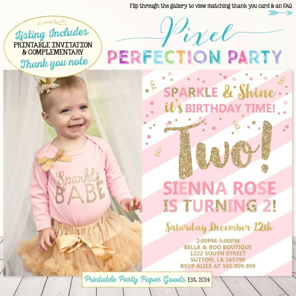 Cedfdaecedcbfc New 2nd Birthday Party Invitations