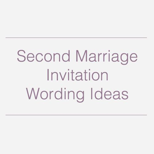 2nd Marriage Wedding Invitations