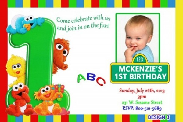 Sesame Street St Birthday Invitations Etsy Great Sesame Street 1st