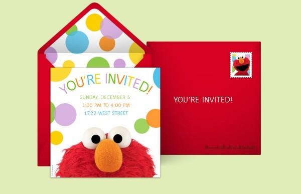 Sesame Supplies Elmo Dots X Spectacular Elmo Birthday Invitations