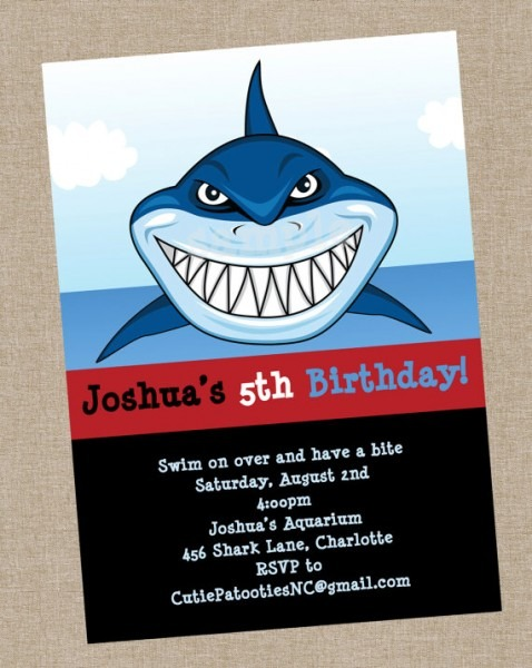 Shark Party Invitations Shark Party Invitations For Best Party