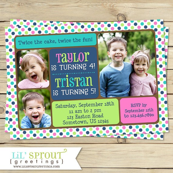 Joint Birthday Party Invitations