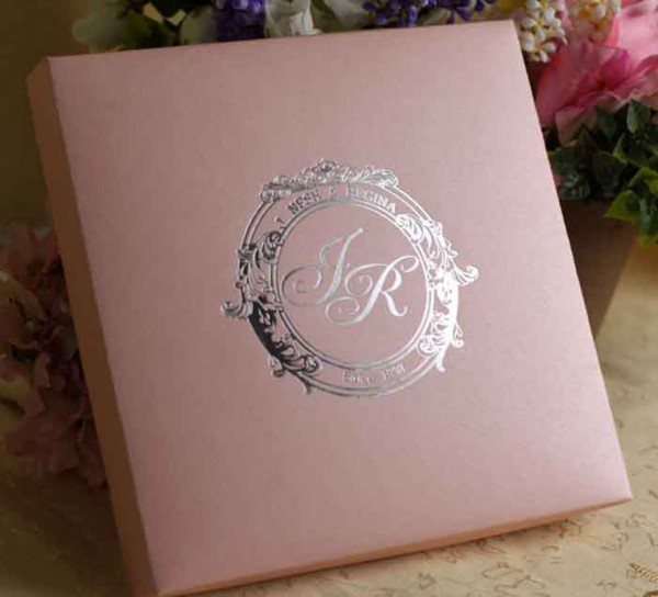Embellished Ivory Silk Wedding Box For Invitation Cards With Clasp