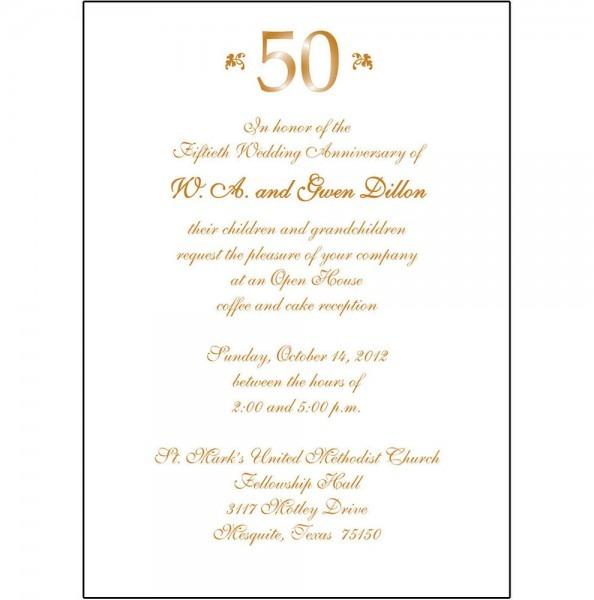 Simple 50th Wedding Anniversary Invitations