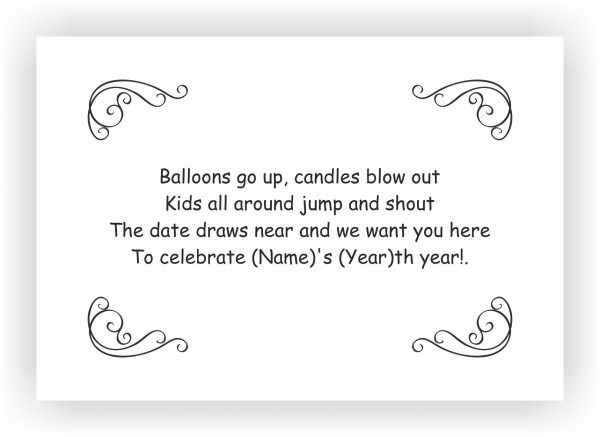 Invitation Template  Birthday Invitations Messages