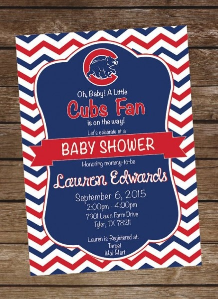 Invitation Template  Chicago Cubs Birthday Invitations