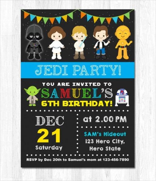 Simple Cute Star Wars Invitation Template Perfect Star Wars