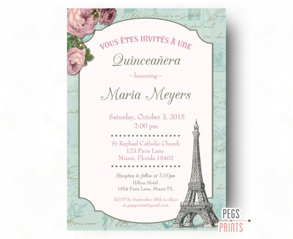 Quinceanera Invitation Wording Spanish » Invitation Card Ideas