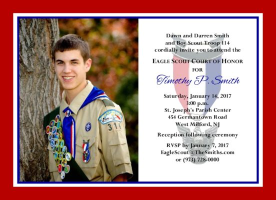 Eagle Scout Invitations Template Free Trend With Eagle Scout
