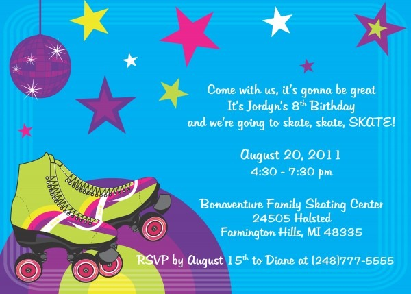 Skate Party Invitations Skate Party Invitations This Is The Party