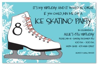 Skate Party Invitations Skate Party Invitations With Glamorous