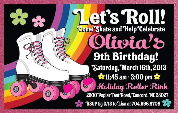 Skating Invitations Tem Cute Skate Party Invitations Free