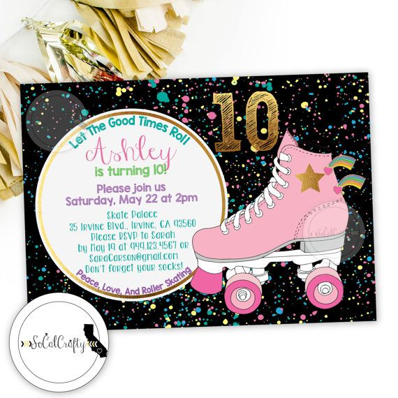 Skating Party Invitations Skating Party Invitations In Addition To