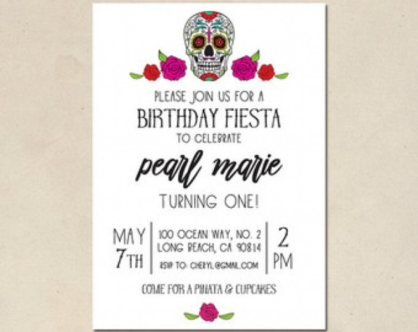 Skull Baby Shower Invitations Baby Shower Invitation Sugar Skull
